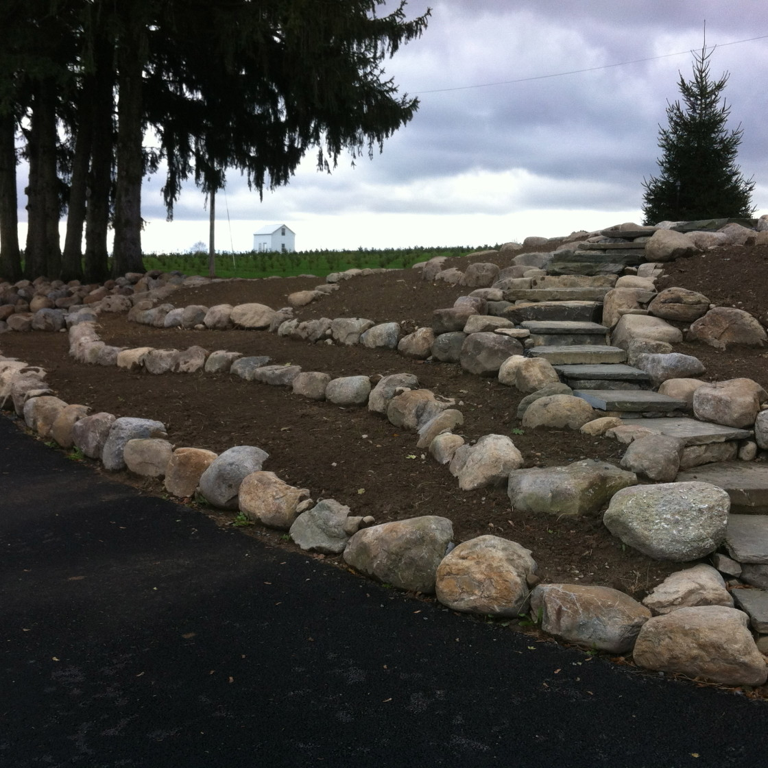 Natural Stone Walkways, Patios and Walls